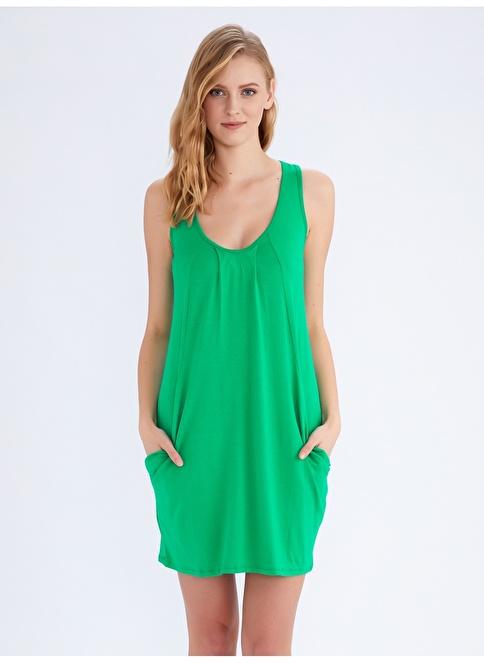 Ayyıldız Ev Elbisesi Yeşil